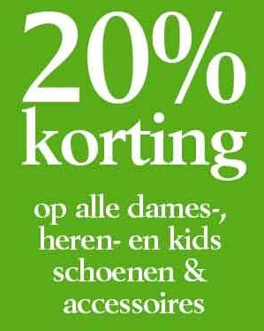 20% korting op alle schoenen & accessoires voor dames, heren en kids @ Shoeby