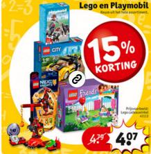 LEGO en Playmobil 15% korting @ Kruidvat