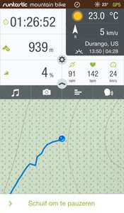 Gratis app Runtastic Mountain Bike GPS PRO Cycling Computer & Tracker t.w.v €4,99 @ App Store / Google Play