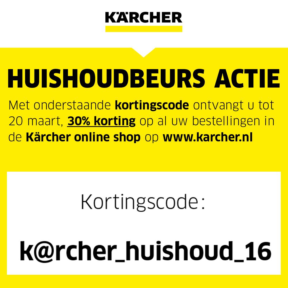 30% korting op alle consumenten items van Kärcher