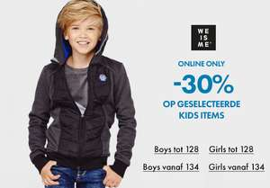 Geselecteerde kids items -30% @ WE Fashion