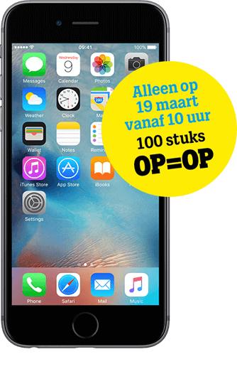 Openingsactie iPhone 6S 16GB voor 21 euro p/m @Tele2 Tilburg