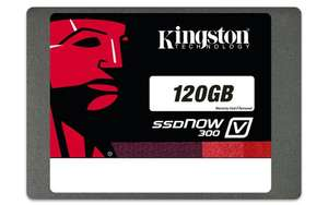 Kingston Technology 120GB SSD 2.5-inch V300 SATA 3 voor €37,99 @ Amazon.de