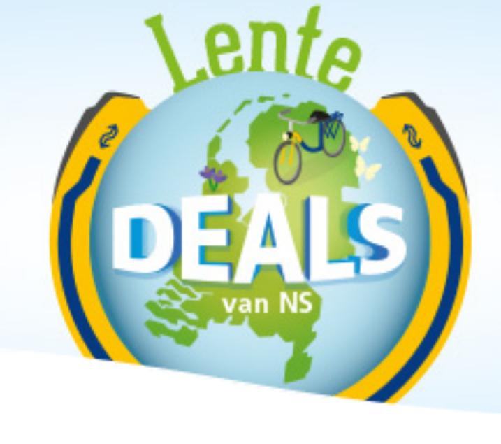 Lentedeals met o.a. 1 dag reizen in het weekend voor 2 personen voor €25 @ NS
