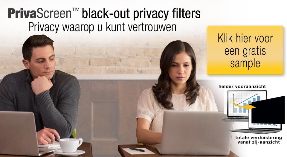 Gratis PrivaScreen Privacy filter voor laptop, 300 stuks beschikbaar.