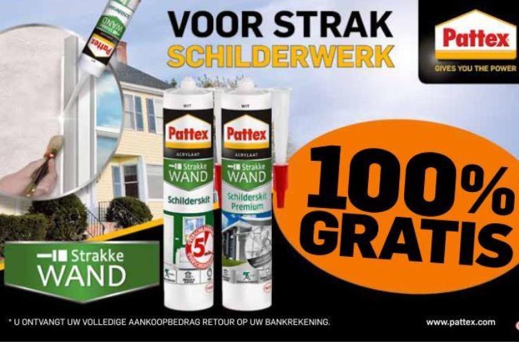 Gratis Minuten en/of Pattex Strakke Wand Schilderskit Premium (max. 3 producten) Cashback
