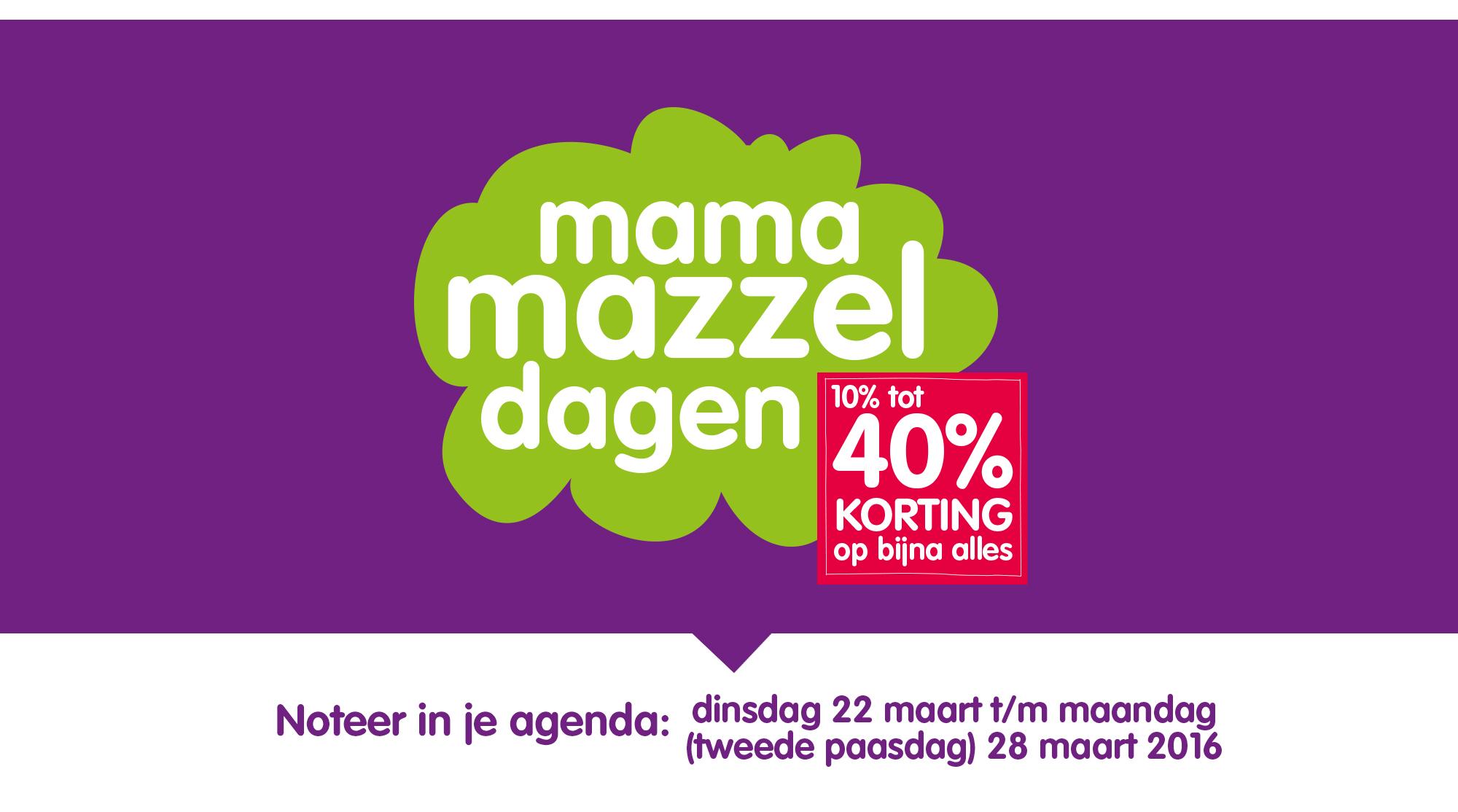 Prenatal Mama Mazzeldagen 22 maart t/m 28 maart 2016