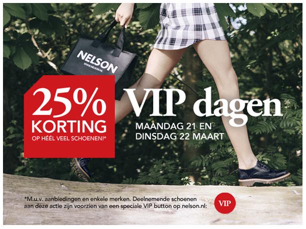 VIP dagen - 25% korting @ Nelson