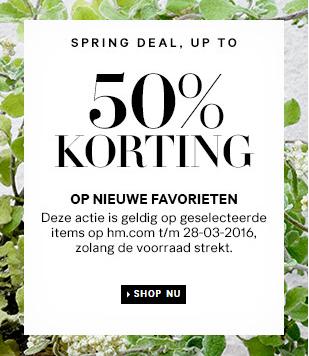 Tot 50% korting op 'nieuwe favorieten' + gratis verzending @ H&M (o.a. poloshirts met lange mouwen €9,99)