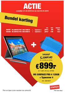 Surface 4 i5 bundel inclusief typecover @Staples