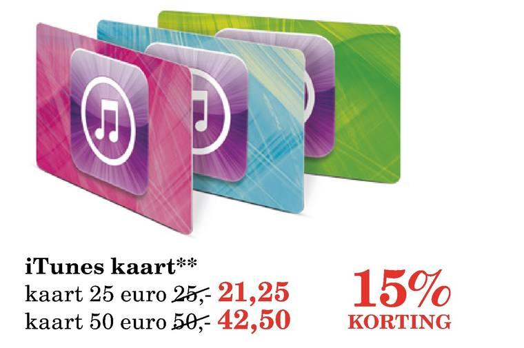 15% korting op iTunes kaarten @ V&D