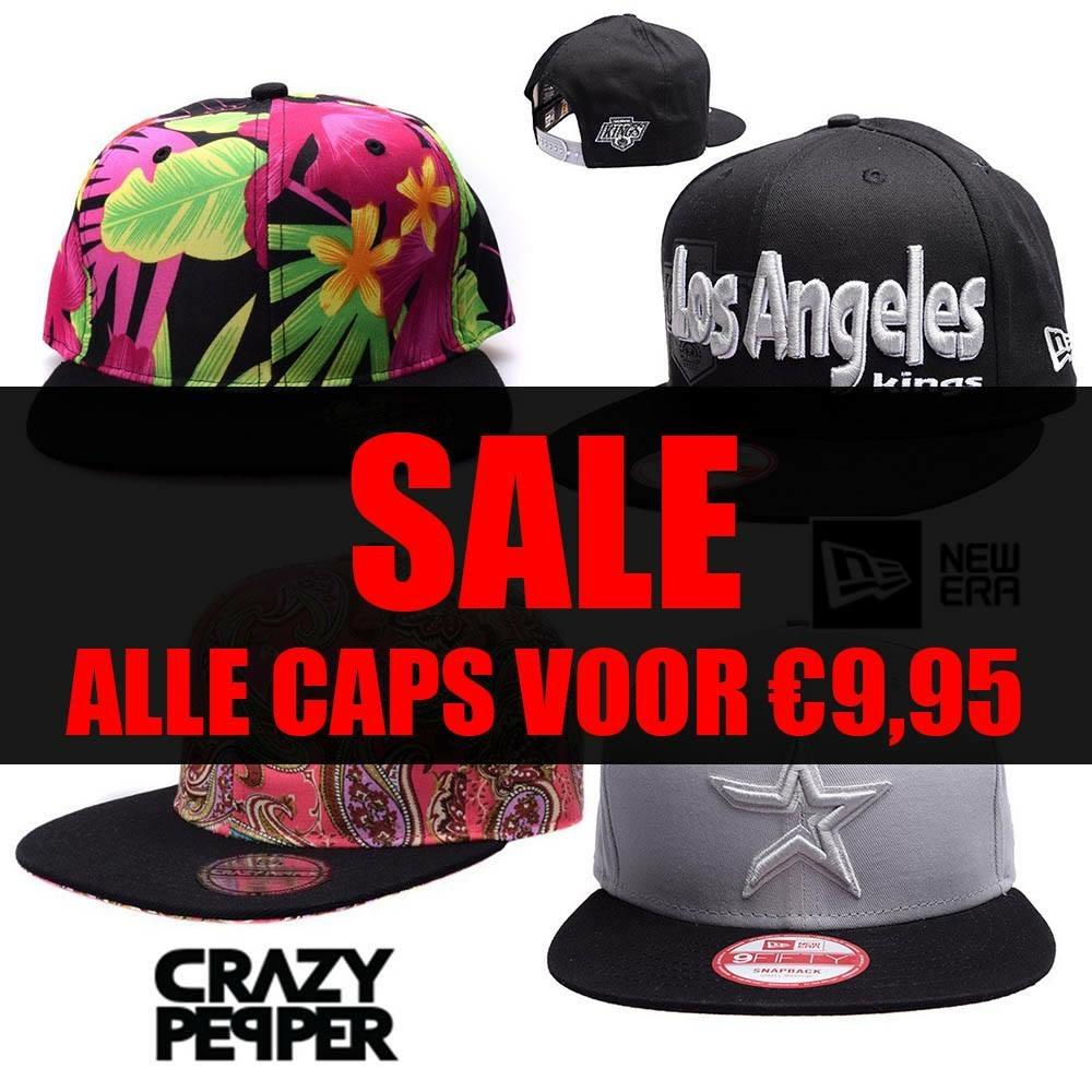Alle caps nu €9,95! Veel van 29,95/34,95 @ snapbacks.nl