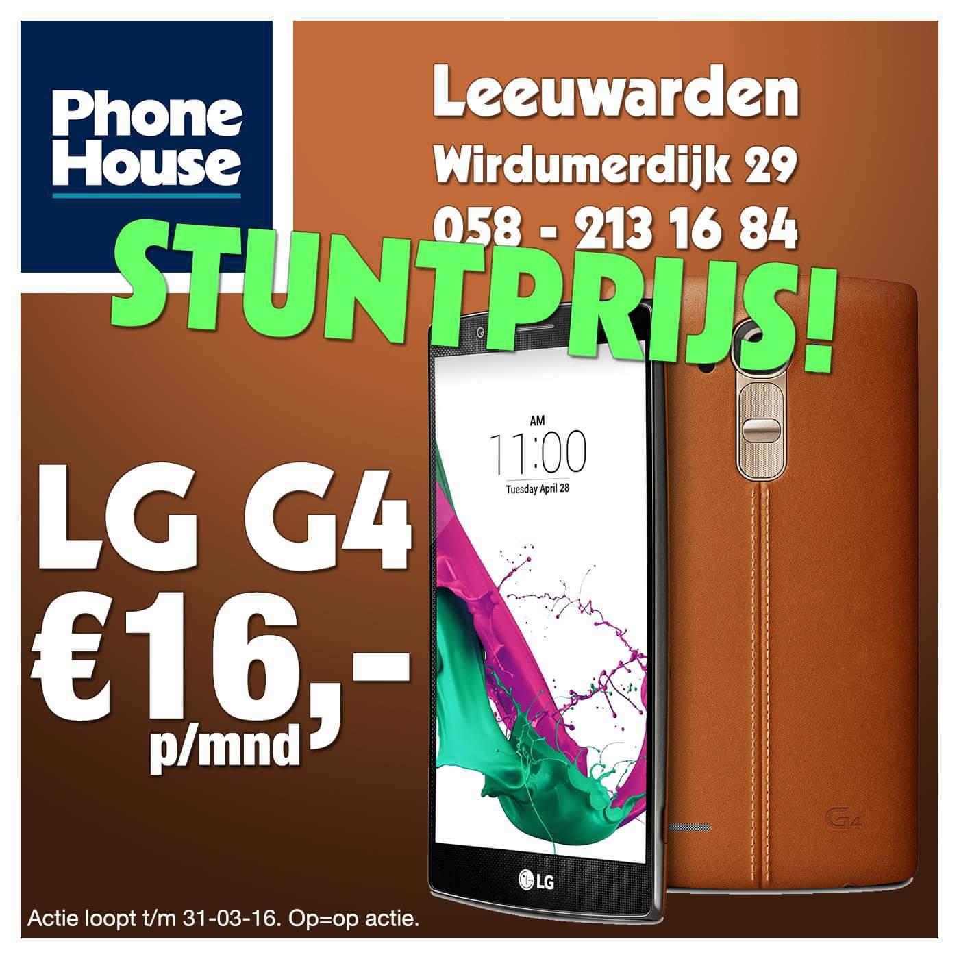 LG G4 en Huawei P8 voor €16 /maand @ Phone House