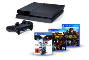 Playstation 4 + Killzone: Shadow Fall + Knack + Infamous: Second Son voor €405,70 + €20 korting op extra game @ Amazon.de‌