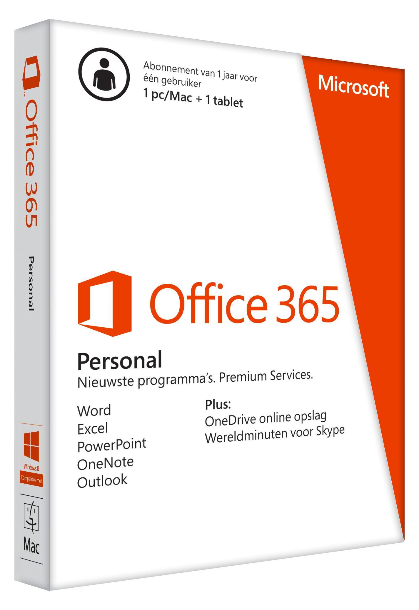 GRATIS Office 365 personal 1 jaar.