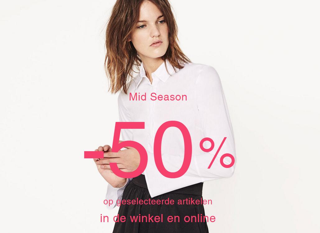50% korting op geselecteerde items @ Zara