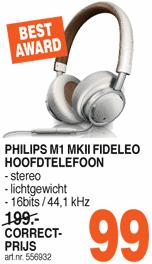 Philips Fidelio M1MKII wit voor €99 @ Correct(R'Dam)