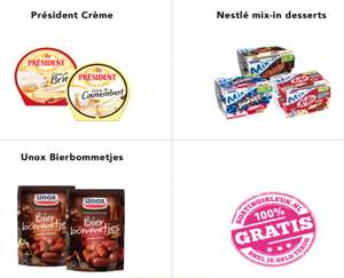 3 gratis producten @ Kortingisleuk