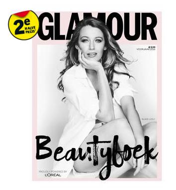 GRATIS Glamour beauty boek bij 2 L'Oréal / Garnier / Maybelline producten (2e halve prijs!) @ Kruidvat