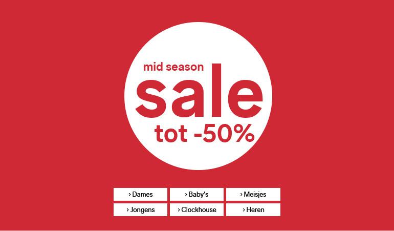 Mid season sale + 10% extra korting met code @ C&A