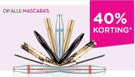 40% korting op alle mascara's / 25% korting op huidverzorging / foundations @ Ici Paris XL