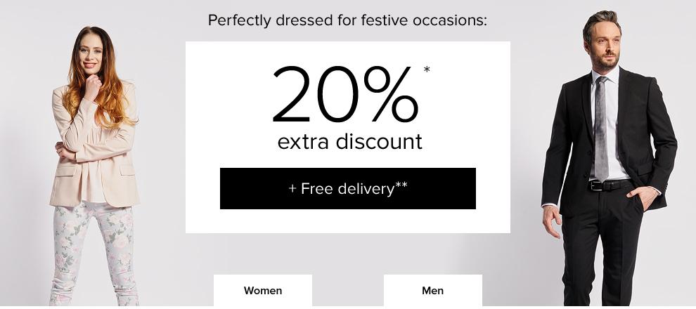 20% Extra korting + GRATIS verzending + 10% extra met code @ Dress for Less