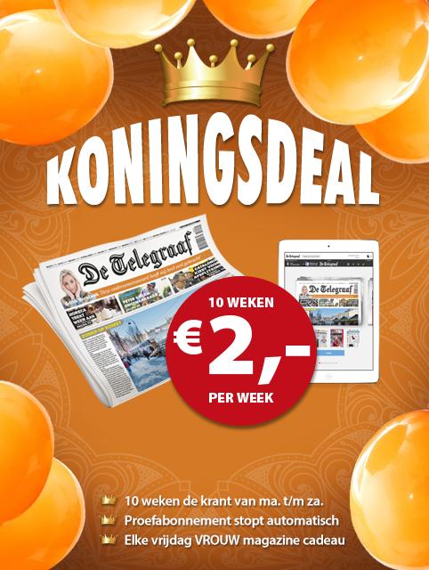 10 weken de Telegraaf voor 2,- per week @Telegraaf