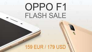 Oppo F1 Smartphone Flash Sale voor €159 @ OppoStyle Europe