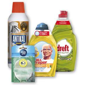 Mr. Proper, Antikal, Ambi Pur of Dreft voor €1 @ Dirk