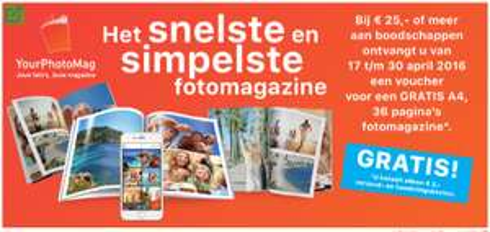 Bijna gratis fotoboek (alleen verzendkosten) @ Deen