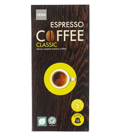 10-pak koffie capsules 2 voor € 3,50 bij HEMA