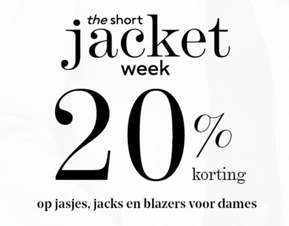 20% korting op jacks en jasjes @ Mango