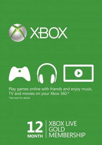 12 maanden Xbox Live Gold voor € 27,79 @ CDKeys
