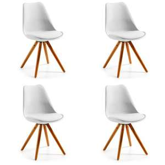 Set van 4 LaForma Ralf stoelen voor €159 @ Bol.com