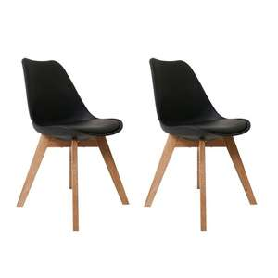 Butik Living Consilium Valido Stoel zwart (set van 2) voor €89,95 @ Bol.com
