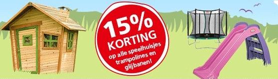 15% korting op speelhuisjes, trampolines en glijbanen @ Intertoys