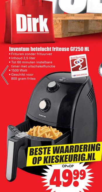 Inventum Air Fryer GF250HL €49,99 @ DIRK