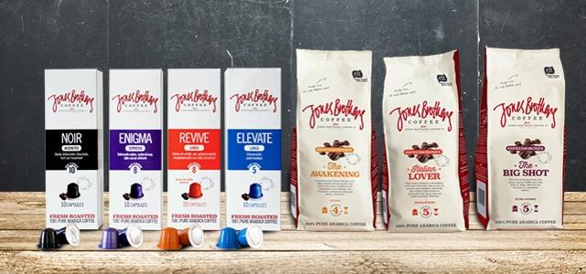 (Update) Bestel nu in de Jones Brothers Coffee webshop bonen óf cups met 50% korting, excl. €1,00 verzendkosten