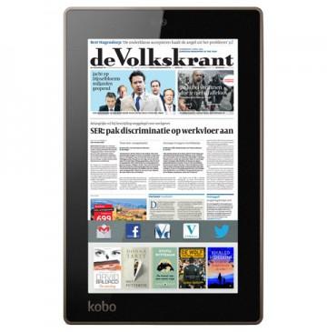 Kobo Arc7 tablet voor € 131,90 met 5 e-books naar keuze gratis @ Volkskrant