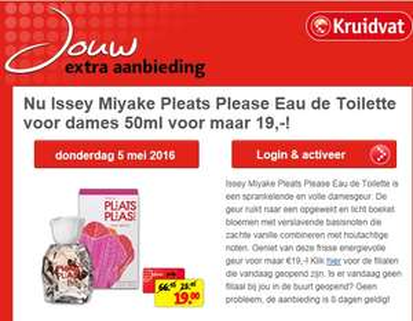 Issey Miyake Pleats Please Eau de Toilette (na activatie) Kruidvat