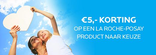 €5 korting op een La Roche Posay product naar keuze @ De Apotheek