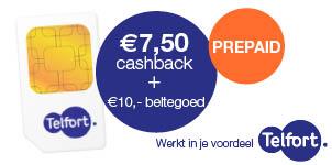 """(Semi)-""""Gratis"""" Telfort Prepaid kaart @ cashbackXL"""