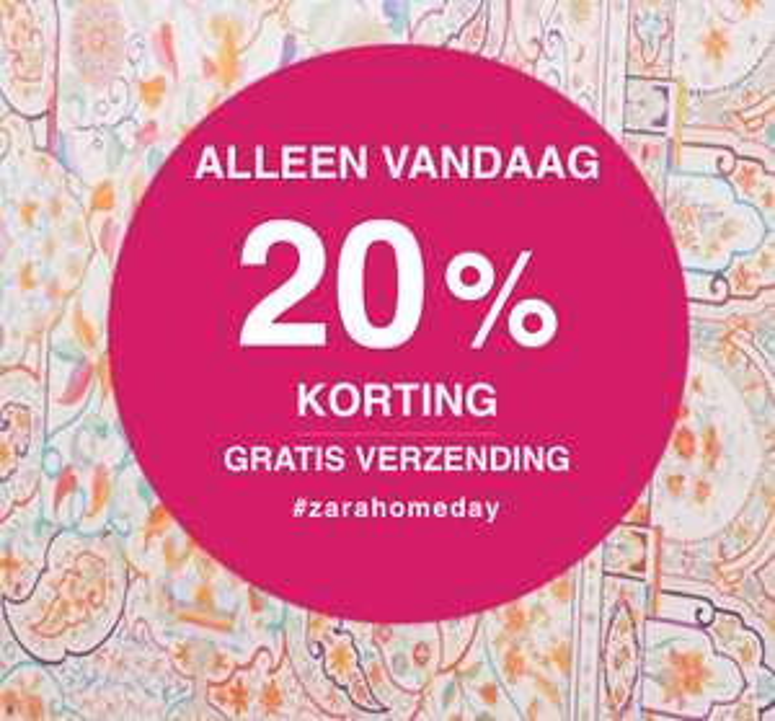 20% korting + gratis verzending @ Zara Home