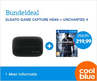 Elgato Game Capture HD60 + Uncharted 4 voor €219,99 @ Coolblue
