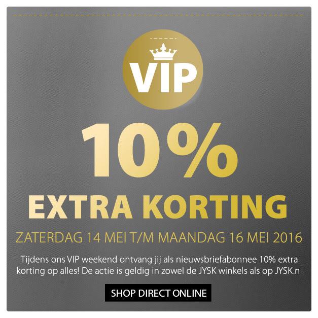 10% extra korting op alles (zaterdag 14 mei t/m maandag 16 mei 2016) @ Jysk