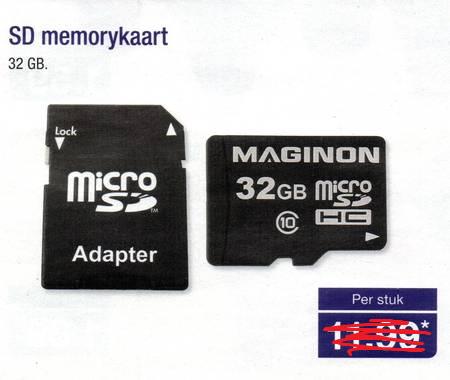 Maginon microSDHC 32GB voor €6,00 @ Aldi