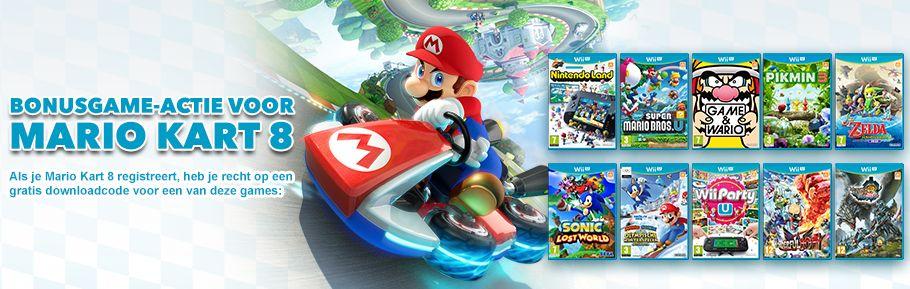 Gratis WiiU-game bij aankoop van Mario Kart 8