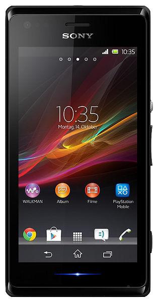 Sony Xperia M (Zwart) voor € 95,94 @ OTTO