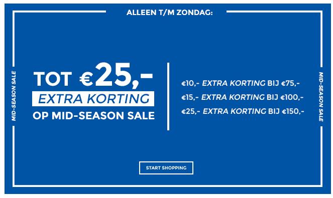 Tot €25 extra korting op mid season sale @ Score