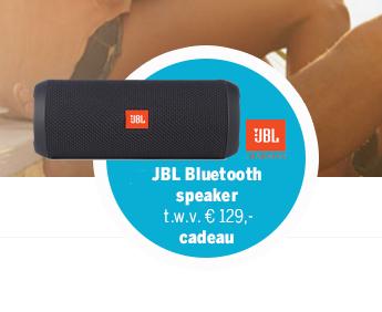 Gratis creditcard twv 75,- en JBL Flip3 speaker twv 129,- (voorwaarden)